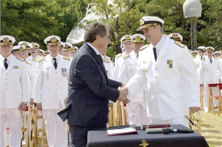 Asunción del vicealmirante Marcelo Eduardo Hipólito Srur, nuevo jefe de la Armada Argentina.