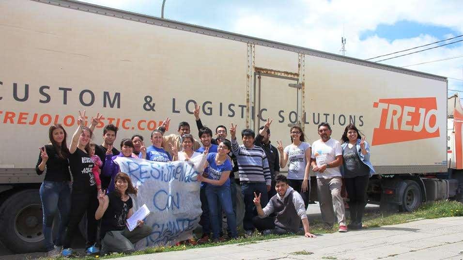 Durante los días de recolección participaron diferentes organizaciones sociales y políticas.