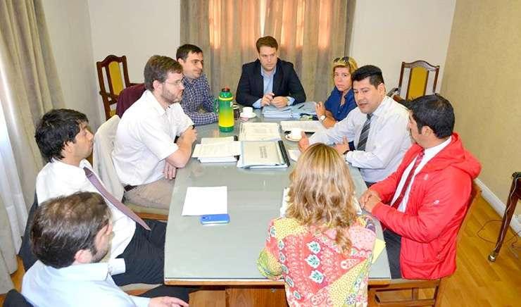 Von Der Thusen se reunió con representantes de áreas administrativas y contables.